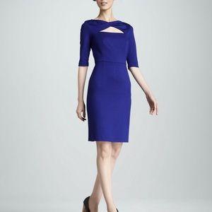 TRINA TURK DRESS BLUE ROMANAVA PONTE SIZE 6